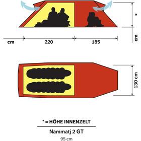 Hilleberg Nammatj 2 GT Tent, red